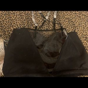 Victoria secret duffel with attached makeup bag